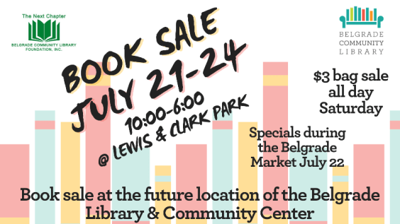 Summer Book Sale at Lewis and Clark Park July 21-24 from 10AM-6PM