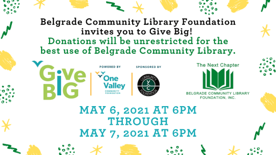 Give Big Starts May 6 at 6PM! Help us reach our goal of raising $5000!