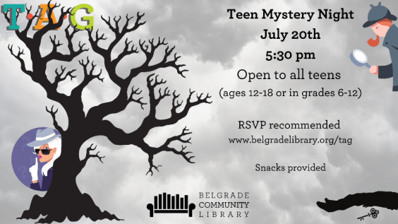 RSVP for Teen Mystery Night at the library