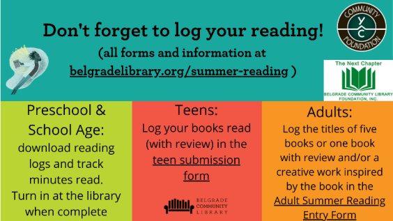 Don't forget to log your reading!
