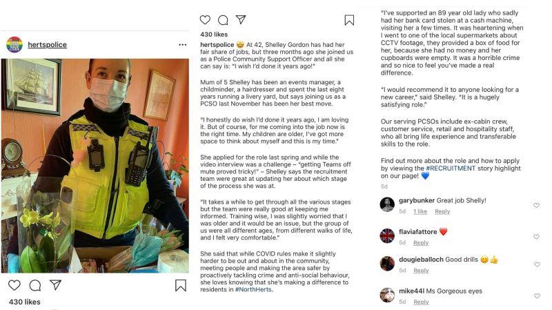 Storytelling on social media: Herts Police example