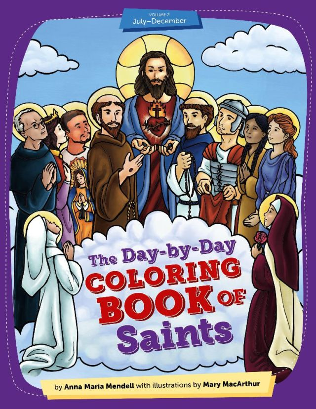 day-by-day coloring book of saints volume 2 cover image