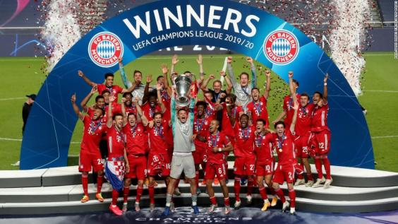 Bayern celebrating the Champions League title. Photo: CNN
