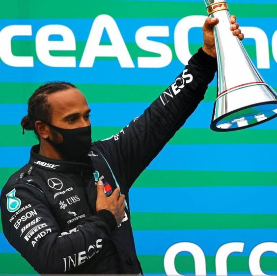 Lewis Hamilton wins the Hungarian Grand Prix. Photo: Mercedes F1.