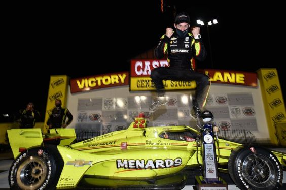 Simon Pagenaud comes from last to win. Photo: Simon Pagenaud Facebook.