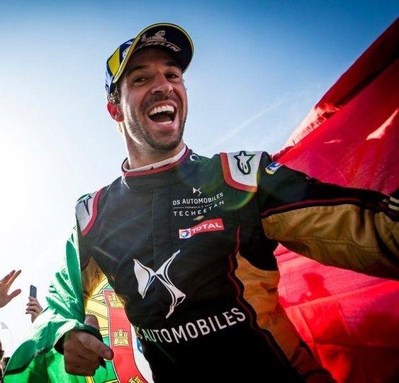 Antonio Félix da Costa celebrating his Formula E Championship. Photo: Facebook Antonio Félix da Costa.