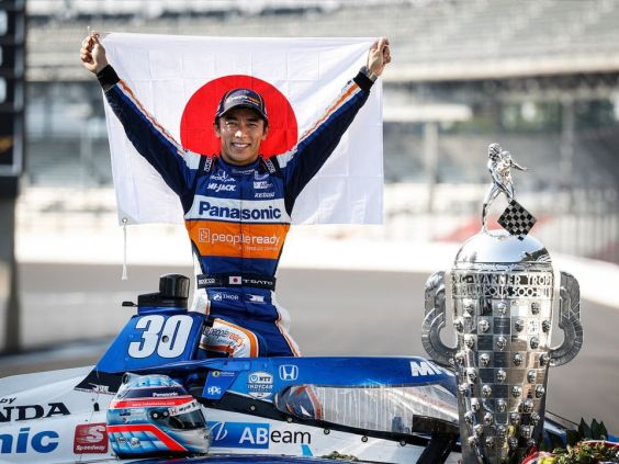 Takuma Sato wins the Indy 500. Photo: HPD Facebook.