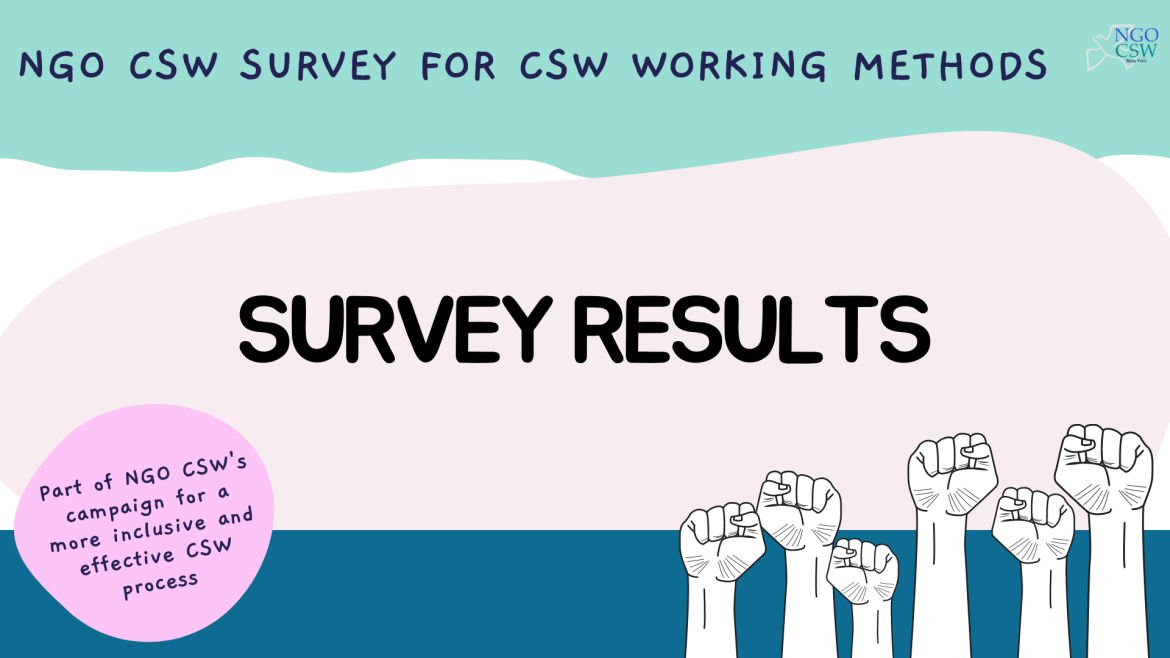 NGO CSW Survey for CSW Working Methods Results