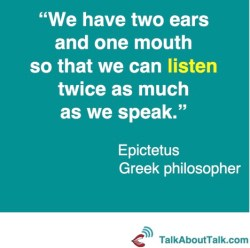 epictetus listening quote