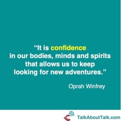 oprah winfrey quote what is confidence