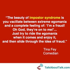 overcome imposter syndrome quote tina fey