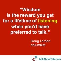 doug larson listening quot