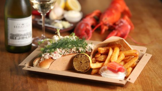 Our delicious seafood roll made with fresh lobster