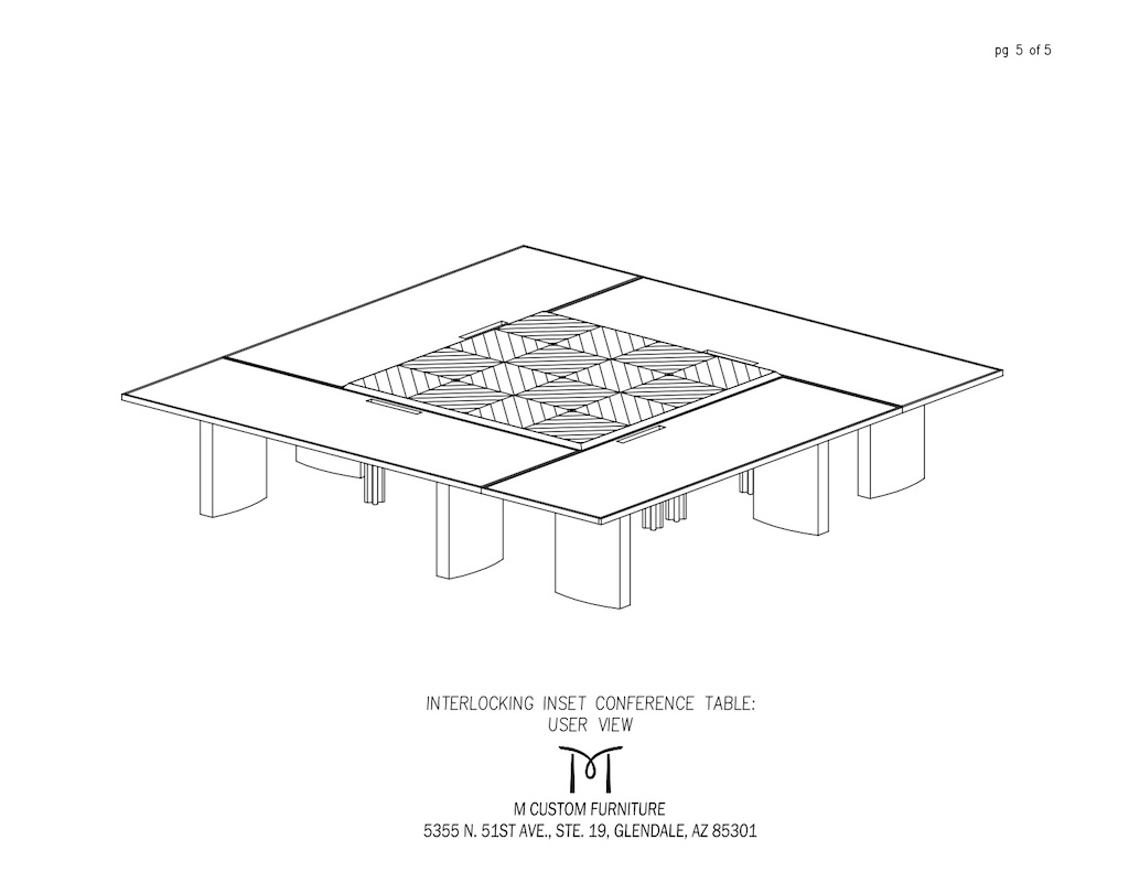 Custom Interlocking Inset Conference Table