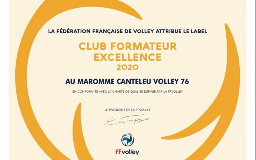 LABEL CLUB FORMATEUR EXCELLENCE 2020