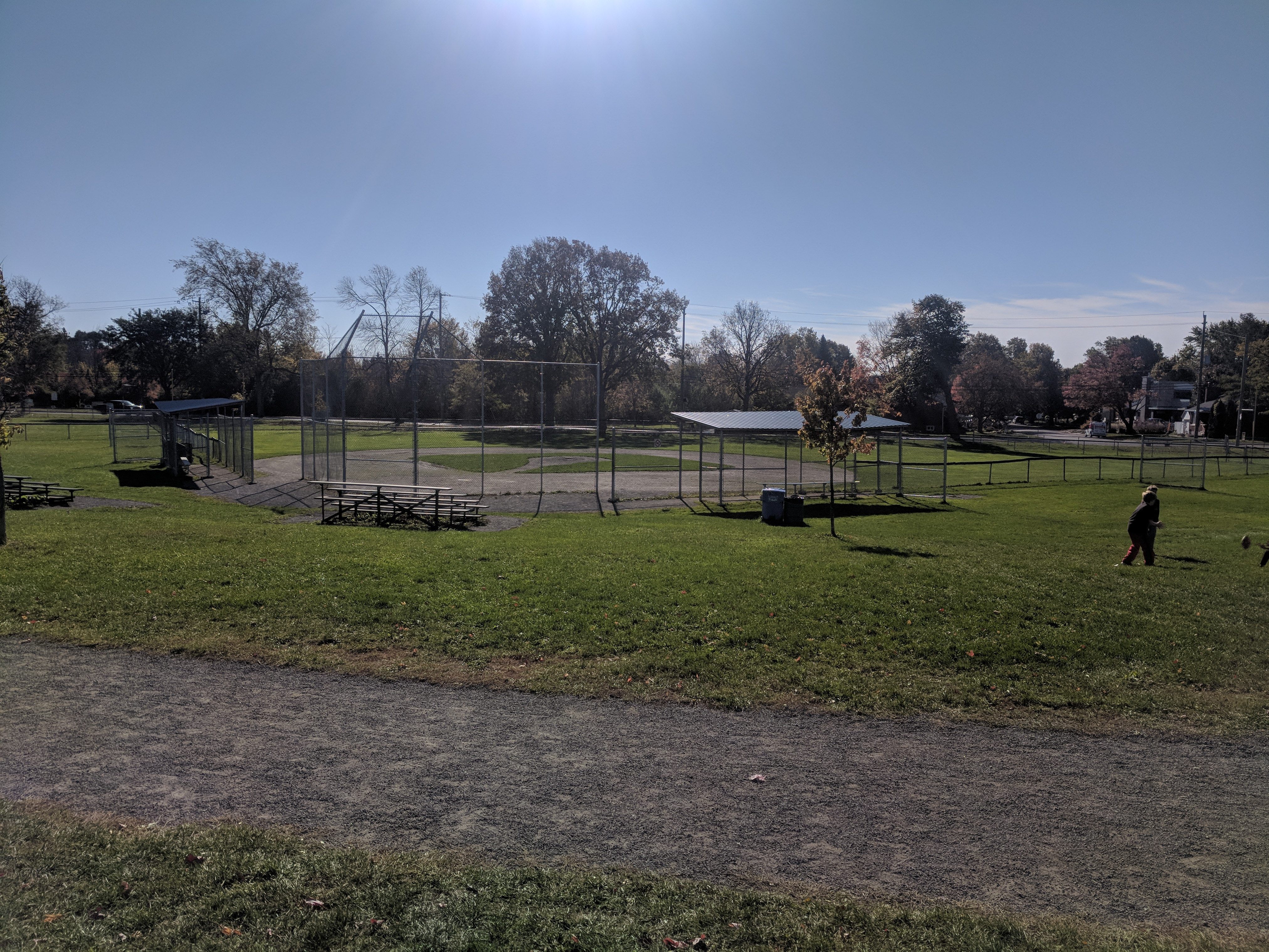 Grasshopper Hill Park baseball dugout
