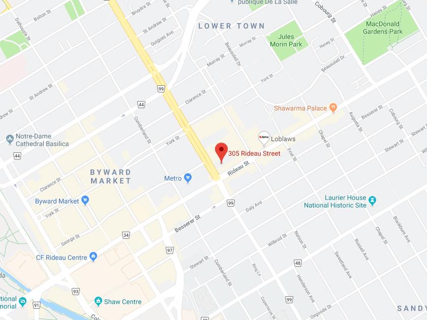 305 Rideau Street Map Pic