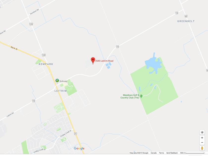 Canadian Forces Base 3545 Leitrim map photo