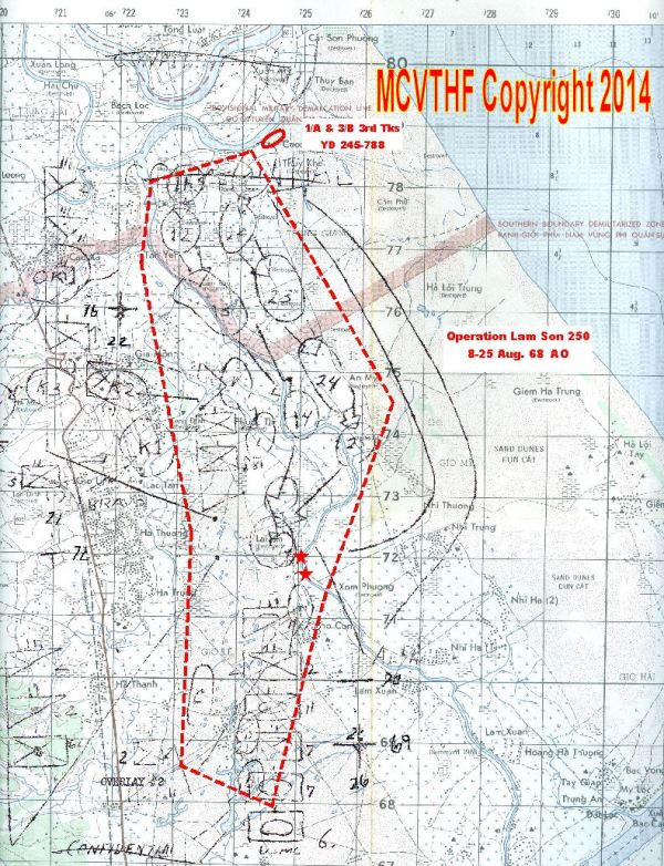 Operation Lam Son 250 8-25 Aug. 1968