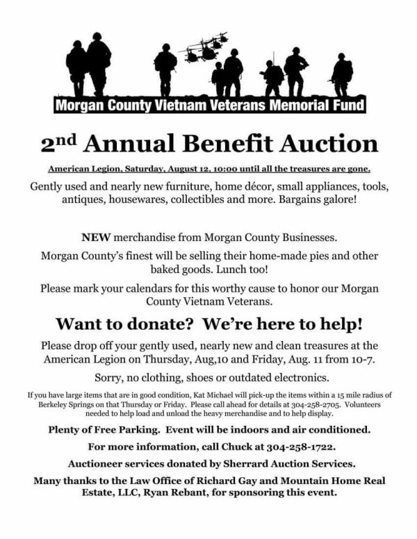 Benefit Auction - Morgan County Vietnam Veterans Memorial Fund