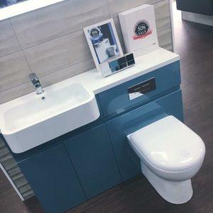 Toilet and Sink Vanity