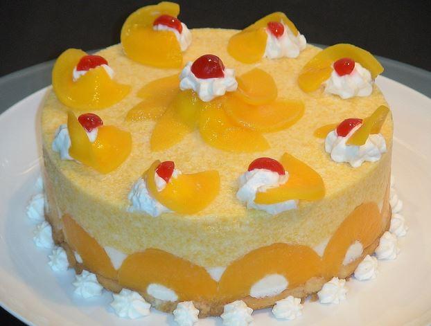como hacer una torta fria de melocoton