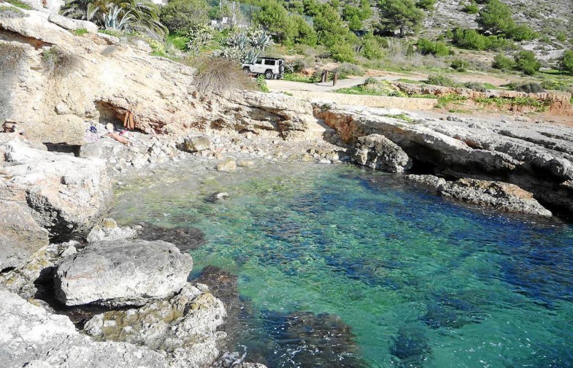 Sa Cala de ses Dones near es pas Estret, where the sick were quarantined in Ibiza.