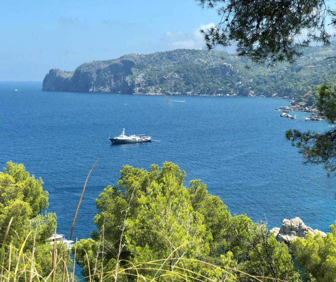 Blue sky, blue seas and big, big boats!