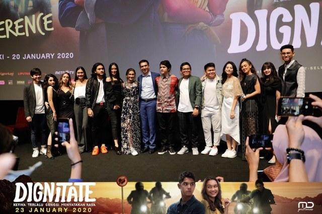 Suasana press conference Gala Dignitate malam ini bersama produser Manoj Punjabi