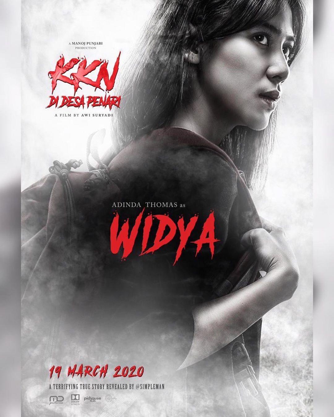 Adinda Thomas Sebagai Widya di Film KKN di Desa Penari