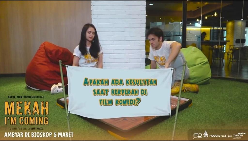 Kesulitan Rizky Nazar & Michelle Ziudith Saat Berperan Di Film Komedi Pertama Mereka