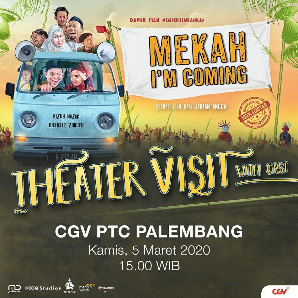 Pemain Film Mekah I'm Coming Rizky Nazar dan Michelle Ziudith Sudah Sampai Di Palembang