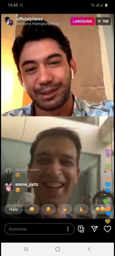 Seru Sekali Tadi Manoj Punjabi & Reza Rahadian LIVE di Instagram