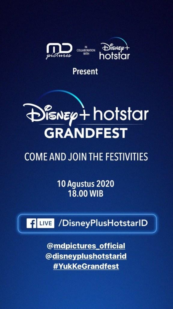 Hari ini jangan lupa ikuti keseruan bersama di Facebook Live Disney+ Hotstar Grandfest pukul 18.00 WIB!