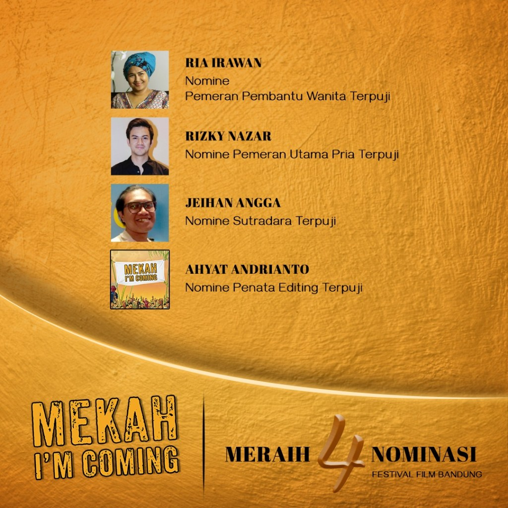 Film Mekah I'm Coming Meraih 4 Nominasi Festival Film Bandung