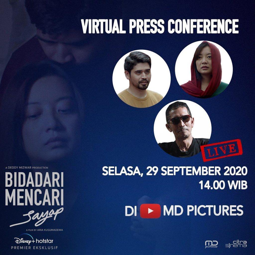 Virtual Press Conference bersama sutradara & para pemain #BidadariMencariSayap