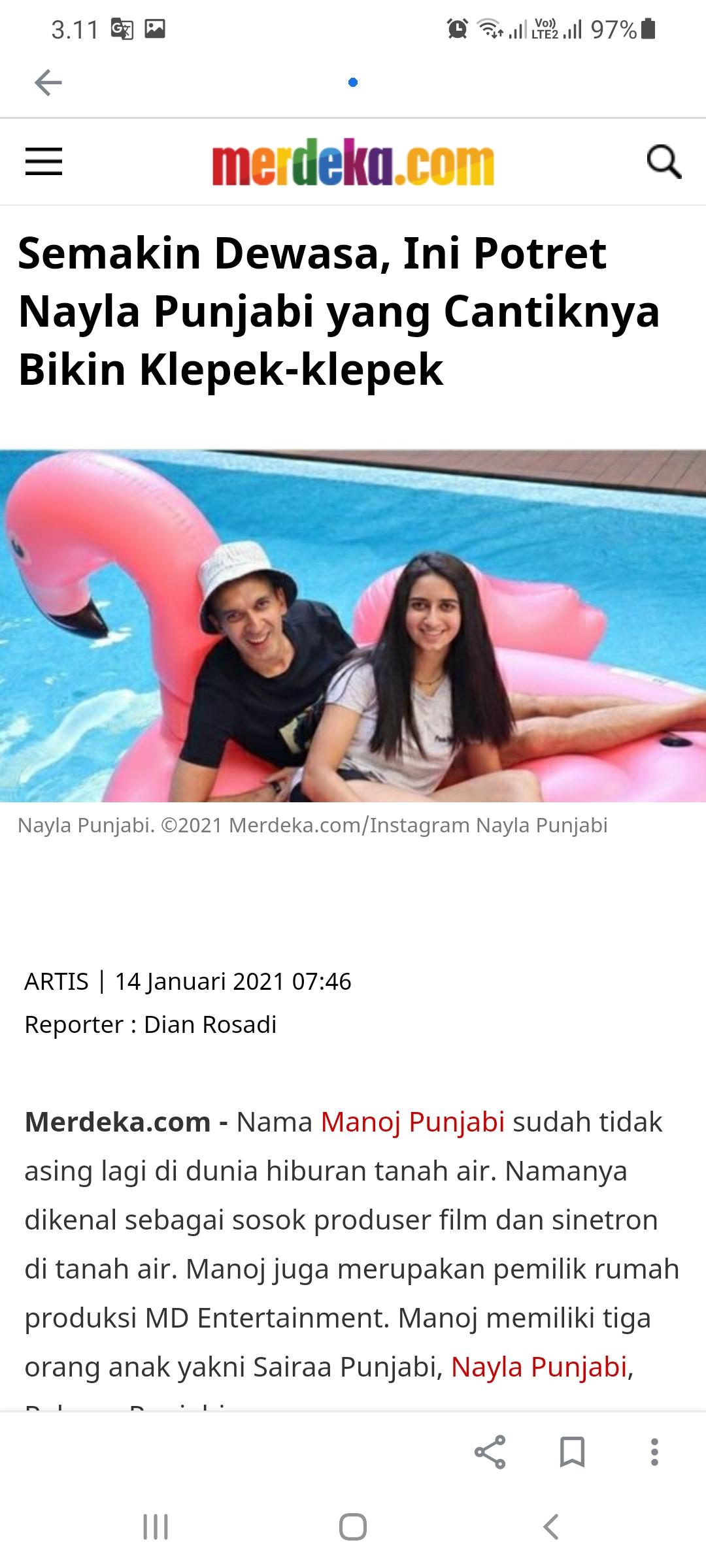 Semakin Dewasa, Ini Potret Nayla Punjabi yang Cantiknya Bikin Klepek-klepek -Merdeka.com