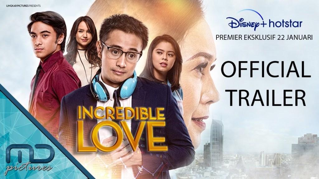 Incredible Love - Official Trailer, 22 Januari 2021 di Disney Plus Hotstar