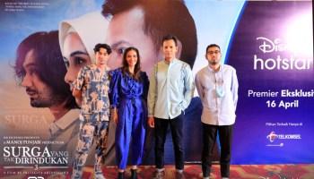 Suasana virtual press conferencefilm Surga Yang Tak Dirindukan3, bersamaDisney Plus Hotstar