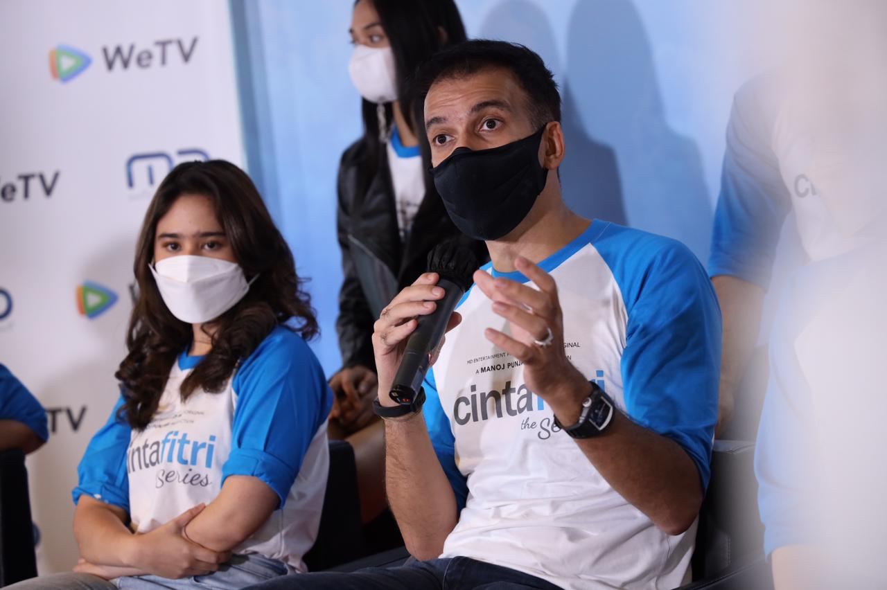 Suasana press conference dan syukuran WeTV Original - CINTA FITRI THE SERIES!