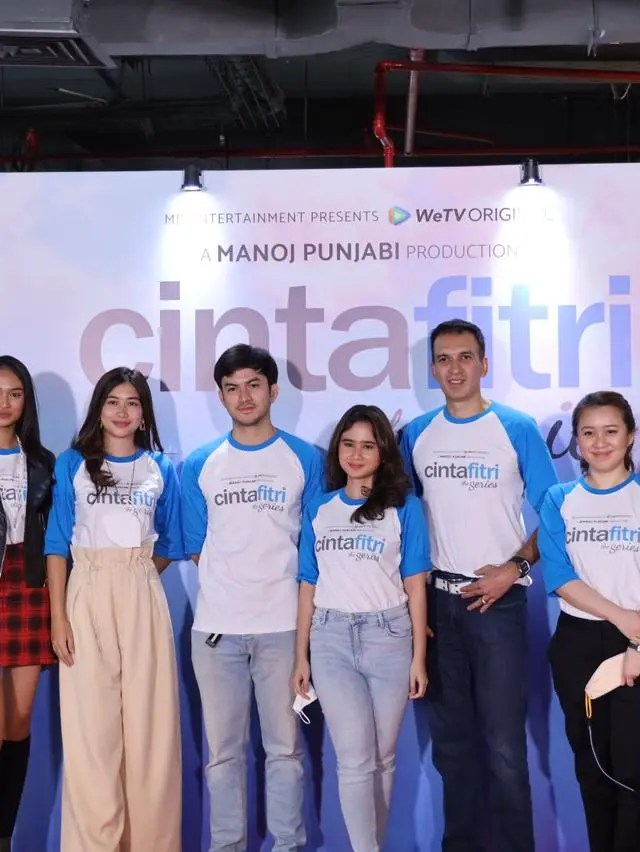 Suasana press conference dan syukuran WeTV Original – CINTA FITRI