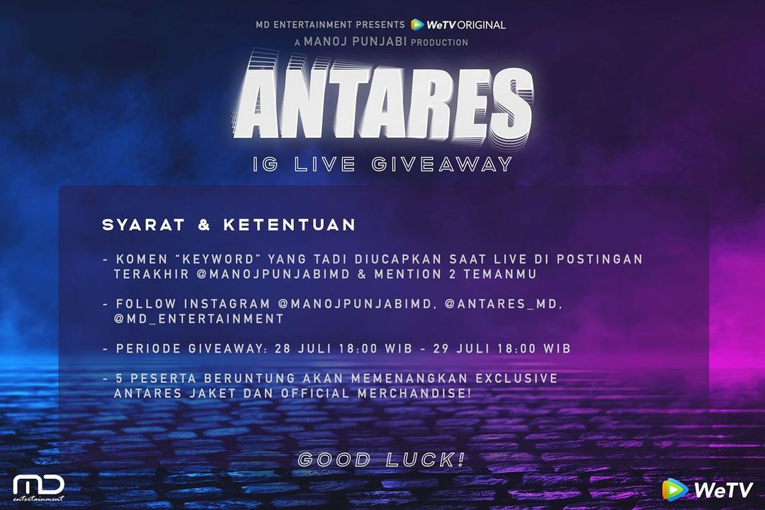 IG Live Antares Giveaway