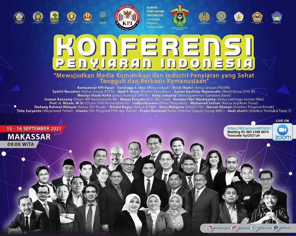 """Jangan lewatkan Konferensi Penyiaran Indonesia, """"Mewujudkan Media Komunikasi dan Industri Penyiaran yang Sehat Tagguh dan Berbasis Kemanusiaan"""""""