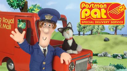Postman Pat dibujo del cartero con su gato y furgoneta roja