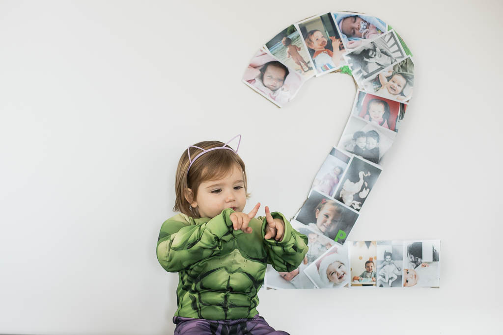 números con fotografías para un evento