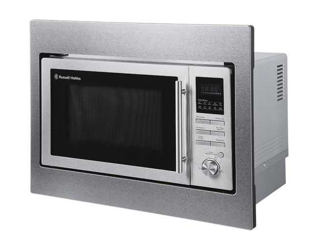 built in 25 litre stainless steel digital combination microwave