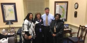 Educators visit State Senator Douglas Peters in Annapolis