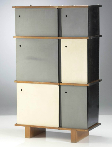 1960 meuble de rangement par charlotte perriand mdba. Black Bedroom Furniture Sets. Home Design Ideas