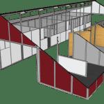 Horse Barn Building Plans Design Floor Plans Mdbarnmaster Com