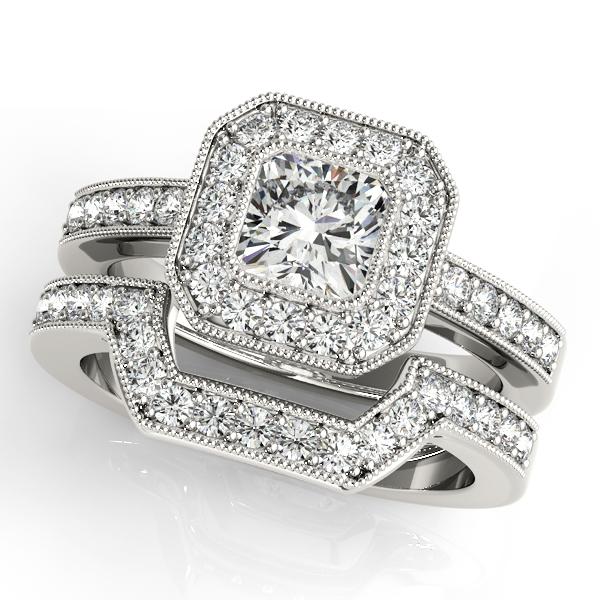 Tone 2004 Wedding Two Rings Diamond